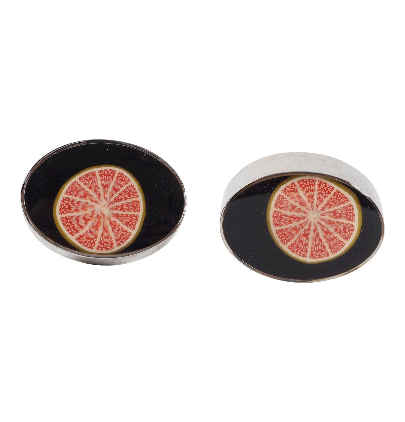 Image of   Men's Glass Orange Cufflinks