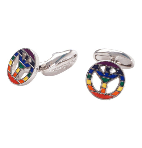 PS Paul Smith - Men's Multi Peacesign Cufflinks