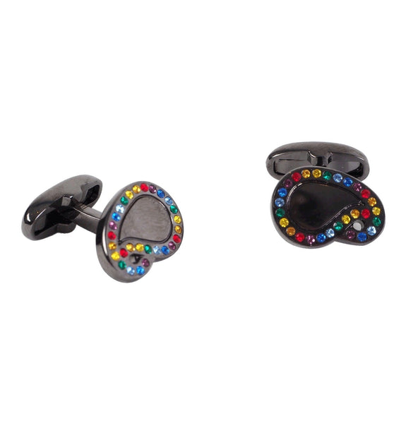Men's Colour Stone Paisley Cufflinks
