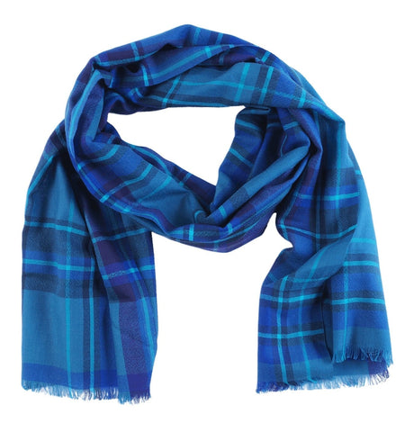 Men's Blue Multi Strips Scarf