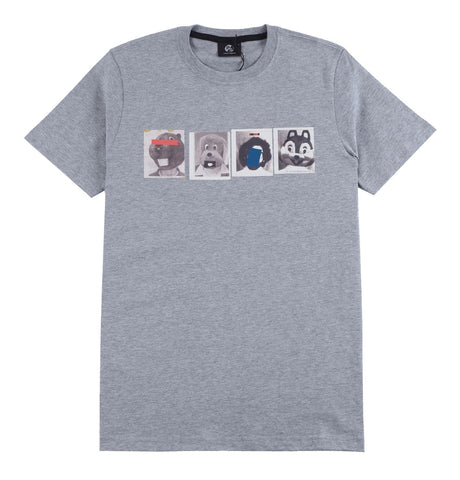 Men's Slim Fit T-shirt with Mascots Print