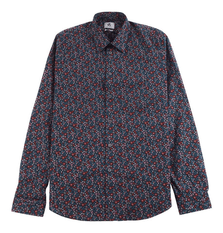 Men's Shirt Tailored Fit with Flower Print
