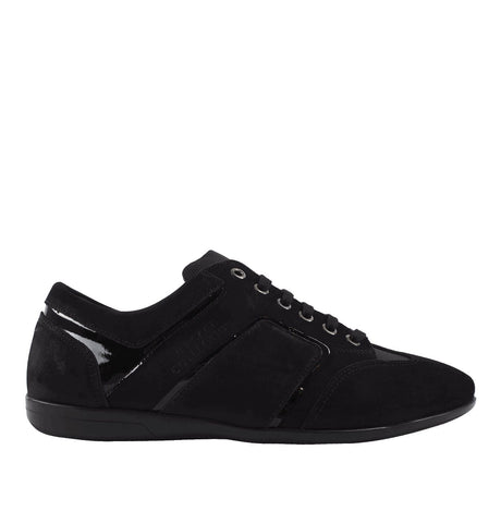 Suede Trainers Black/Gunmetal