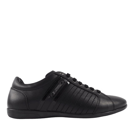Leather Trainers Black/Gunmetal