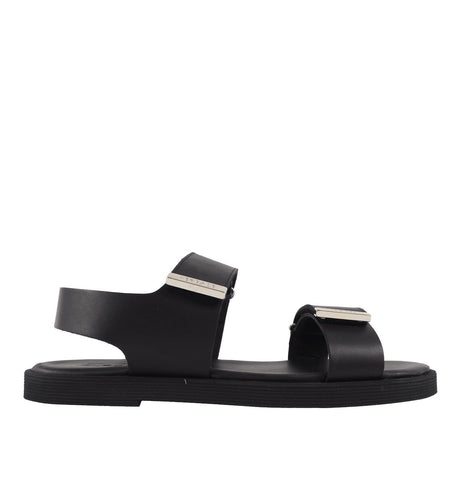 Sandal Leather Black/Nickel