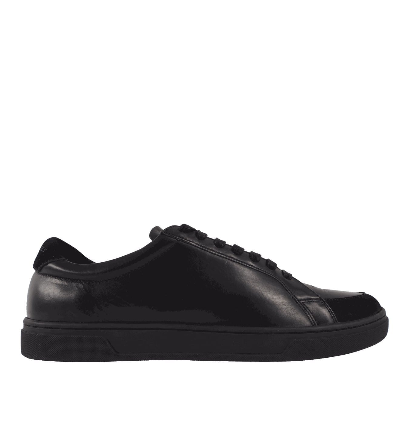 Image of   Arne Leather Trainers Black