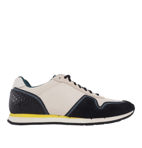 Mens White Mesh Mo Tennis Shoe