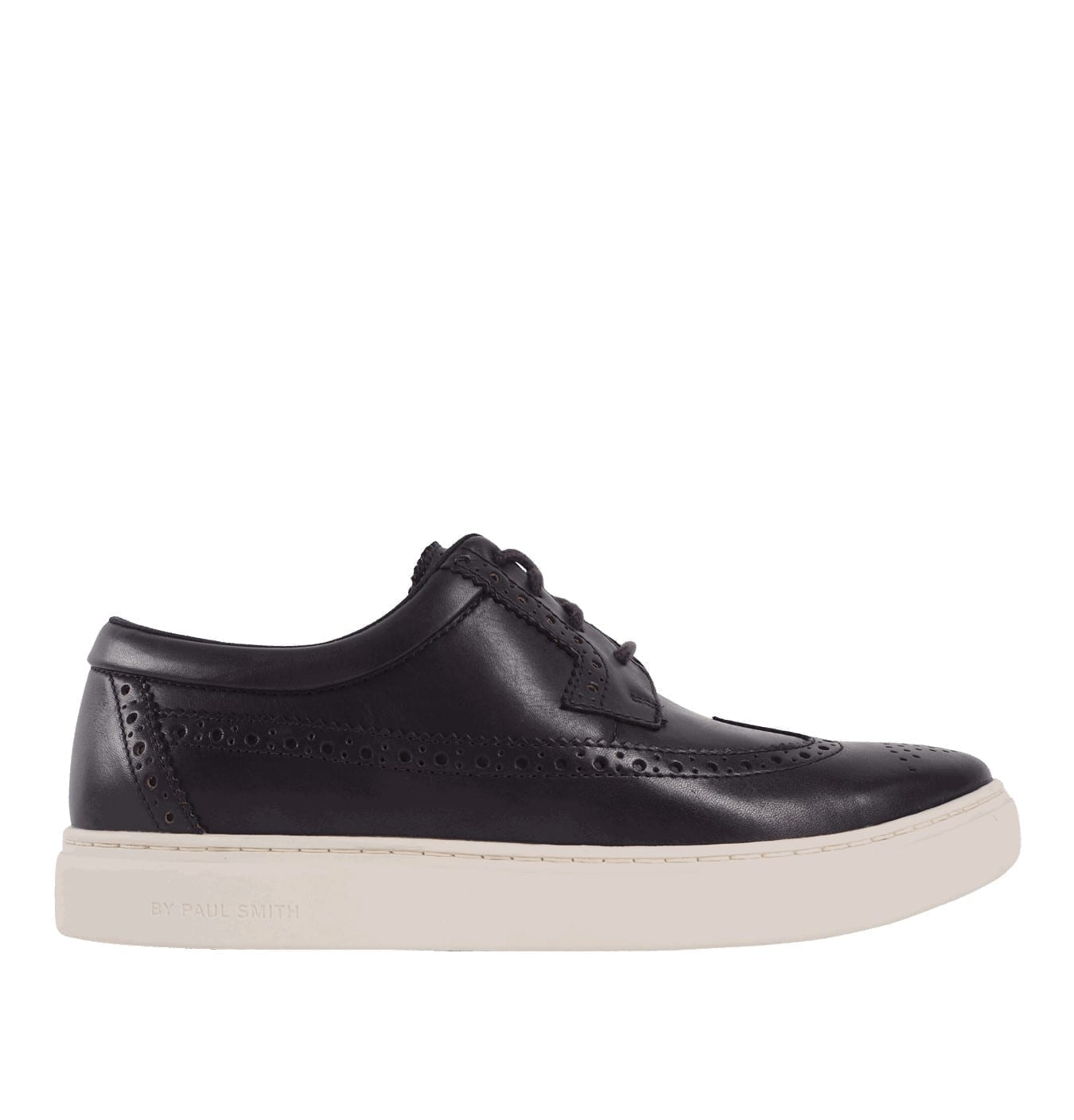 Image of   Mens Dark Navy Leather Rupert Brogue Trainers