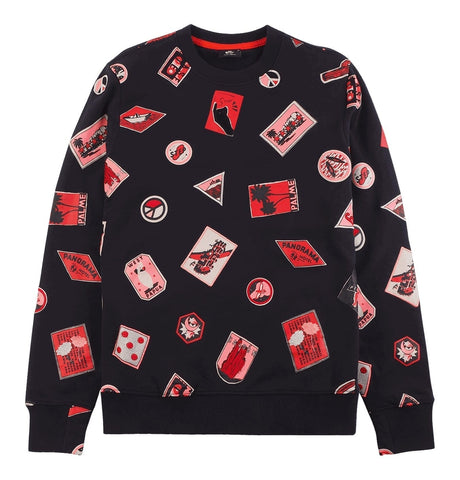 PS Paul Smith - Black Cotton Embroidered and Printed Sweatshirt