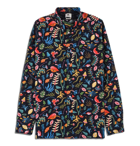 PS Paul Smith - Mens Shirt Tail LSLV BD Leafs