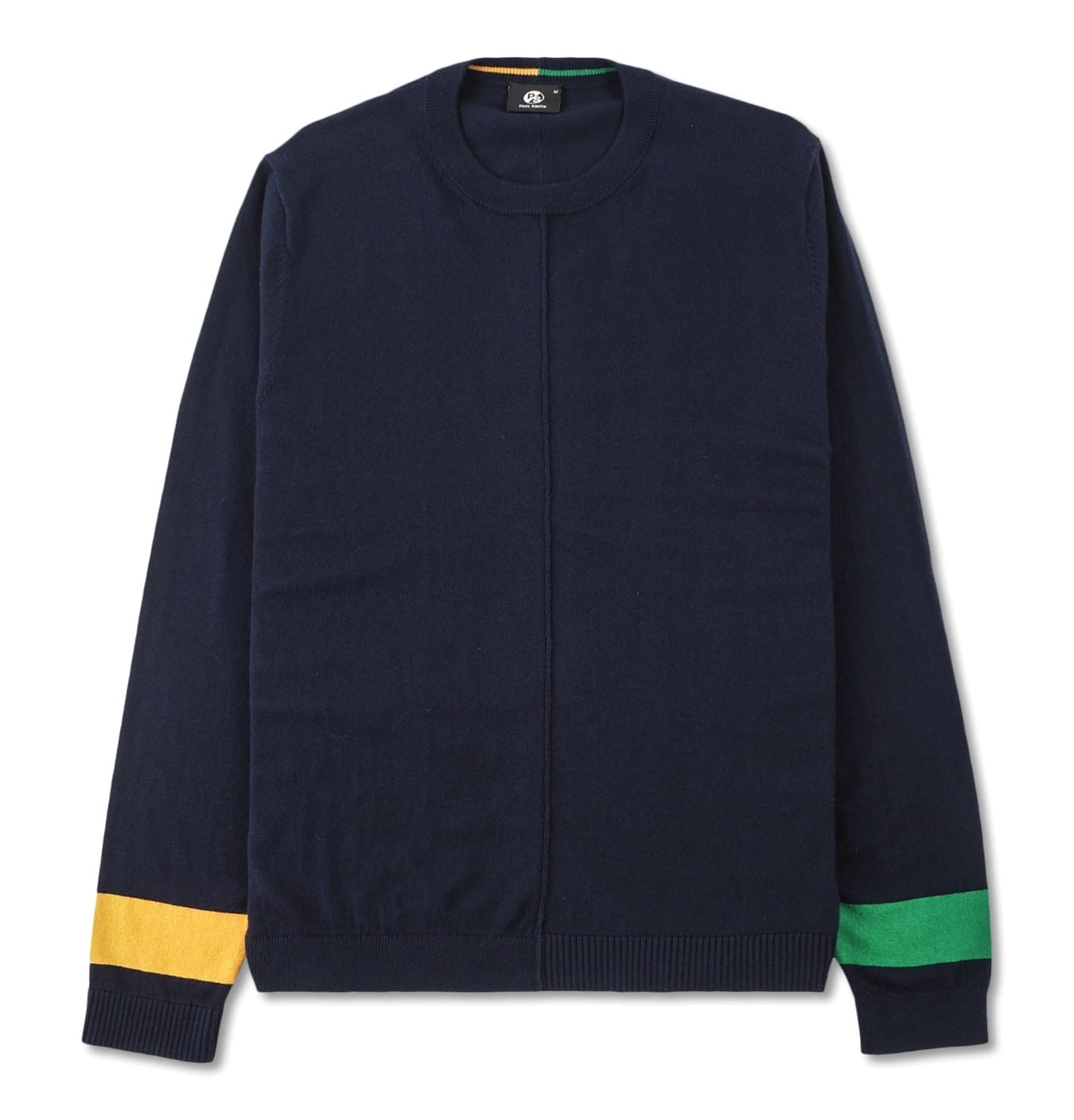Image of   Mens Pullover Crew Neck yellow and Green