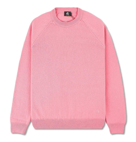 Men's Pink Merino Wool Crew Neck