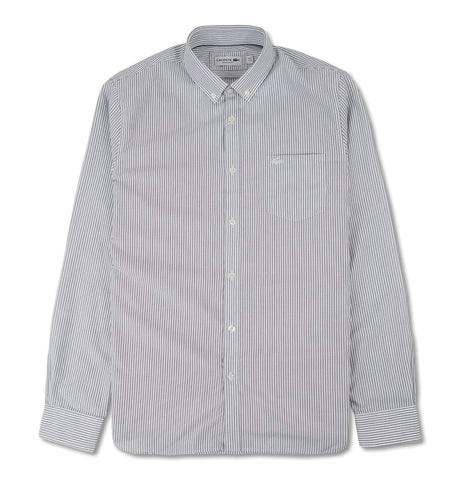 Regular Fit Striped Poplin