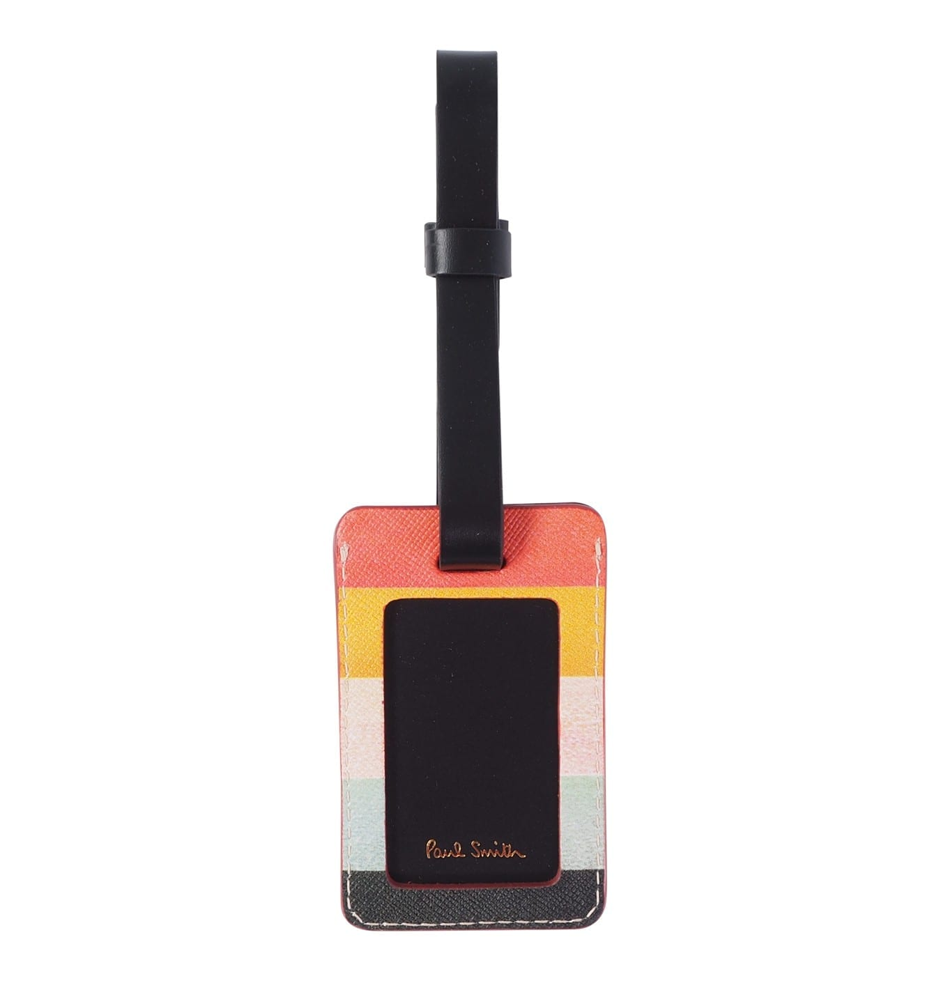 Image of   Mens Artist Stripe Leather Luggage Tag
