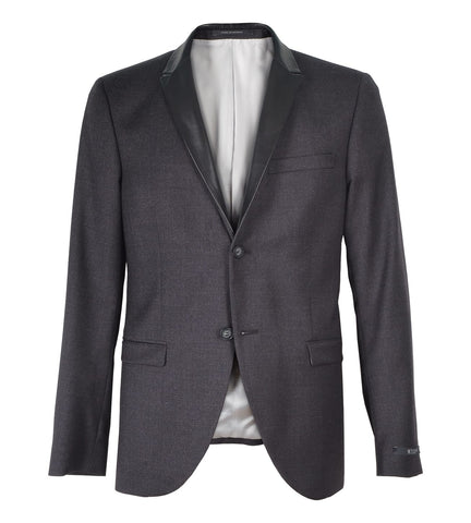 Evert Blazer with Leather Lapels