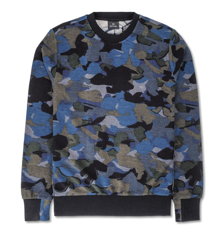 PS Paul Smith - Mens Navy Camouflage Sweatshirt