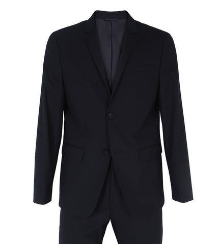 Fitted Wool Stretch Blazer