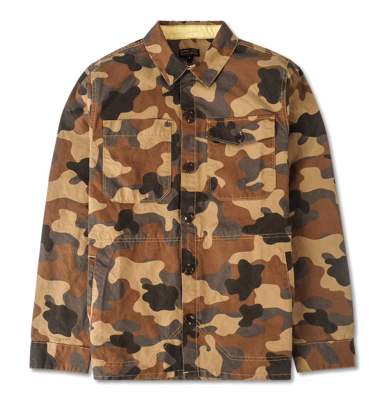Image of   Barbour Camo Button Thru