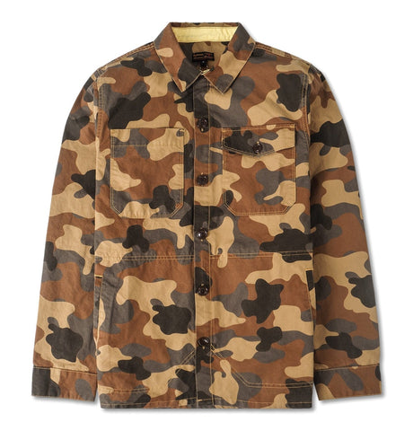 Barbour Camo Button Thru