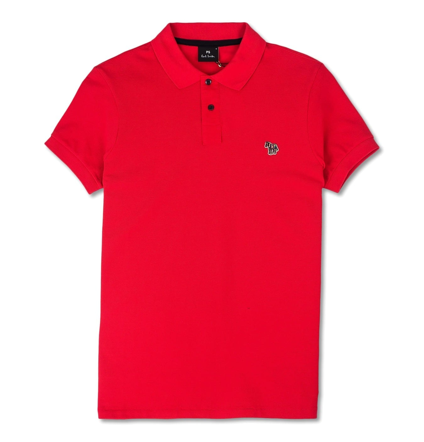 Image of   Mens Zebra Slim Fit Polo Red