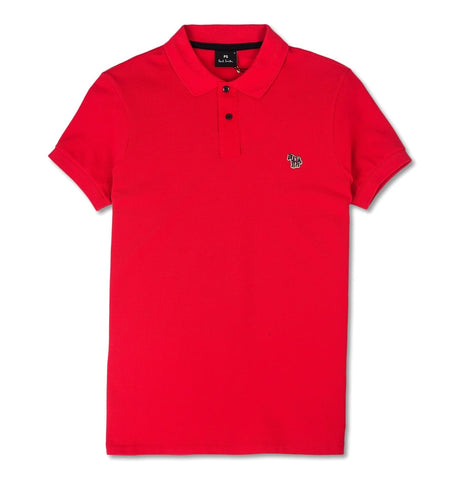 Mens Zebra Slim Fit Polo Red