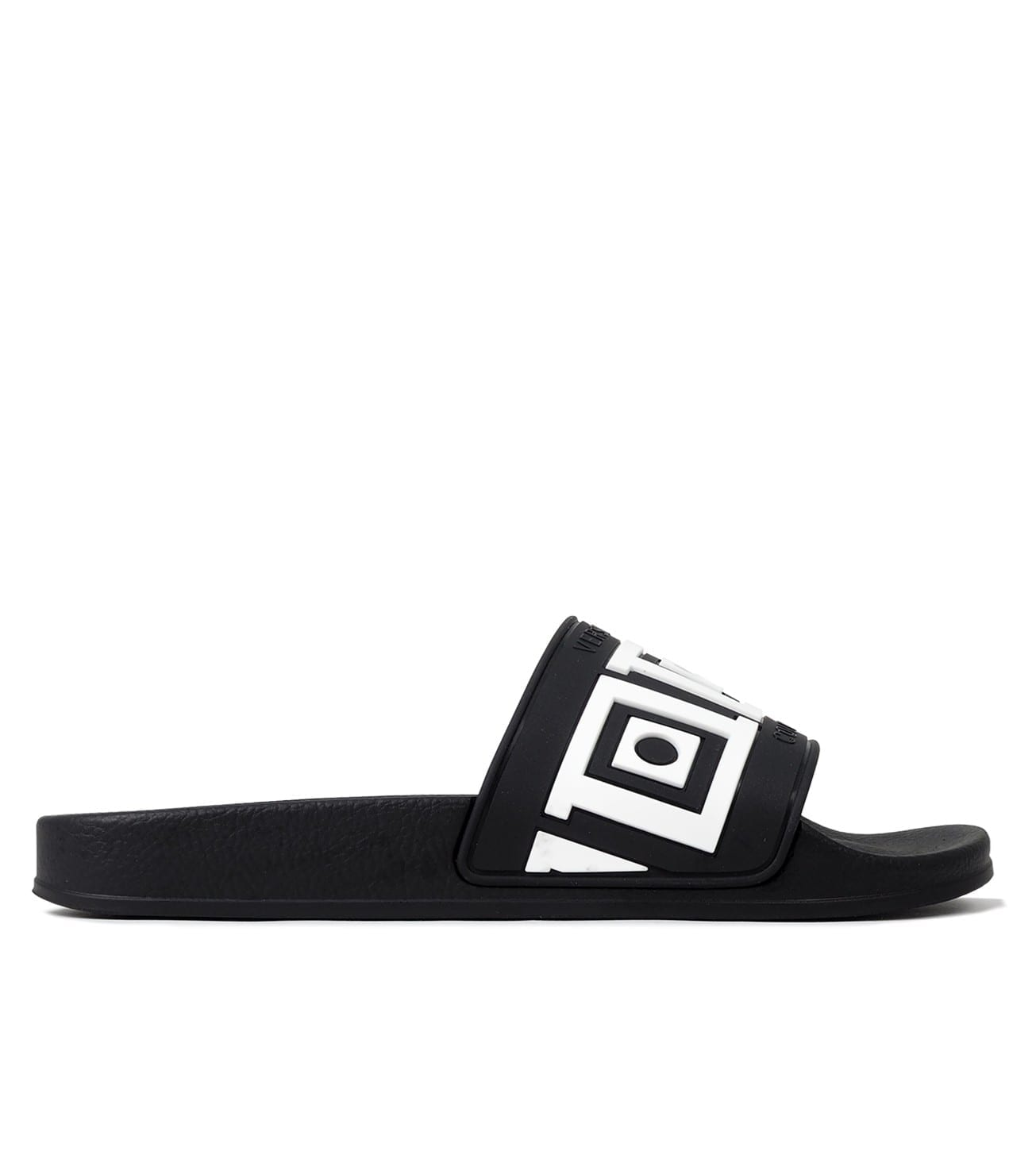 Image of   Scarpe, slippers black and white greek inspired