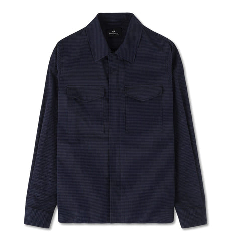 PS Paul Smith - Mens jacket, Bamboo, blue with black squares