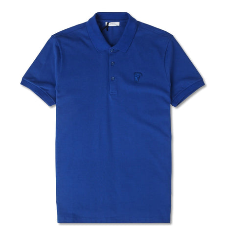 Versace Collection - Polo 3 Bott., blue Medusa