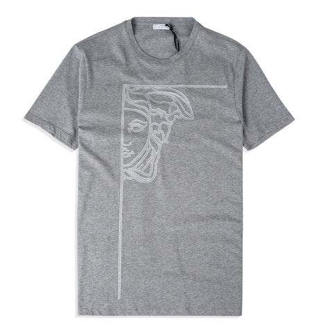 T-shirt Girocollo, grey
