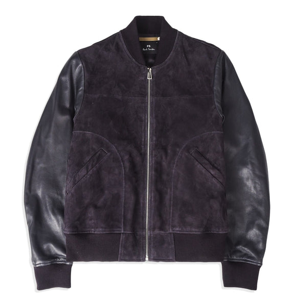 PS Paul Smith - Mens bomber jacket, suede with leather
