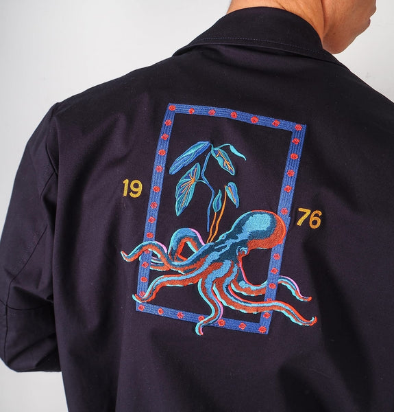 Mens Navy Jacket octopus