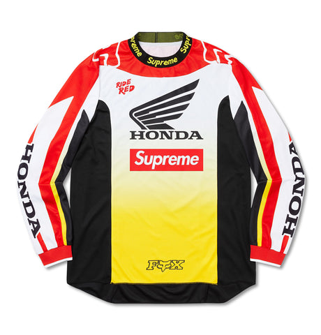 Supreme X Honda X Fox Racing Moto Jersey Top White
