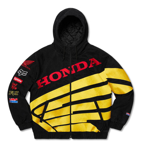 Supreme X Honda X Fox Racing Puffy Zip Jacket