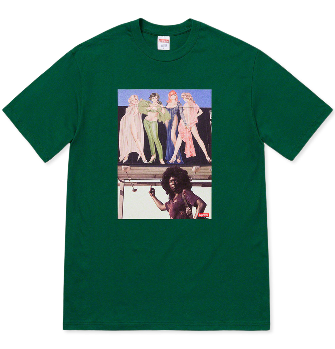 Image of   American Picture Tee Green