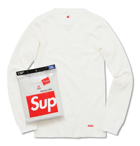 Supreme - Supreme Hanes Thermal Crew White