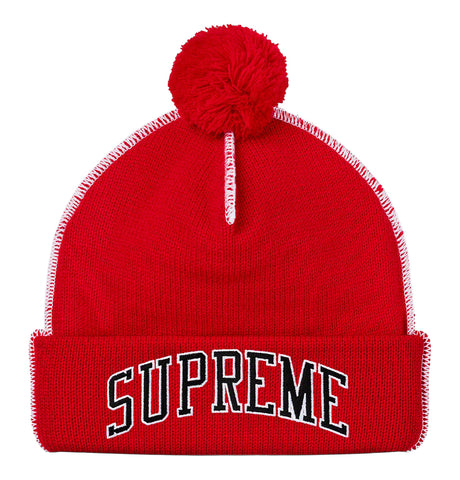 Supreme Contrast Sitch Beanie Red