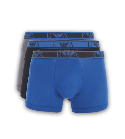 EA7 - EA7 Cotton Stretch Boxer 3-Pack Blue