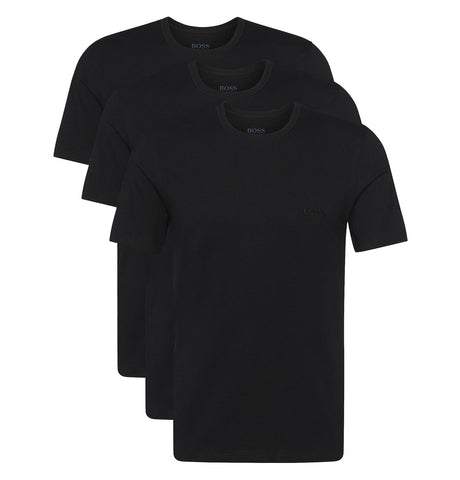 Hugo Boss - Triple Pack of Regular Fit Cotton T-shirts Black