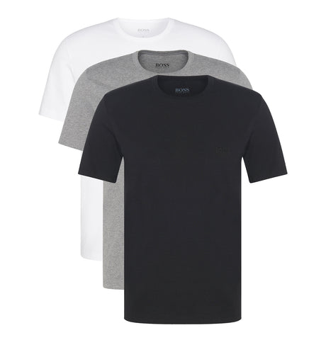 Hugo Boss - Triple Pack of ReYellowar Fit Cotton T-shirts Black AsBlacked