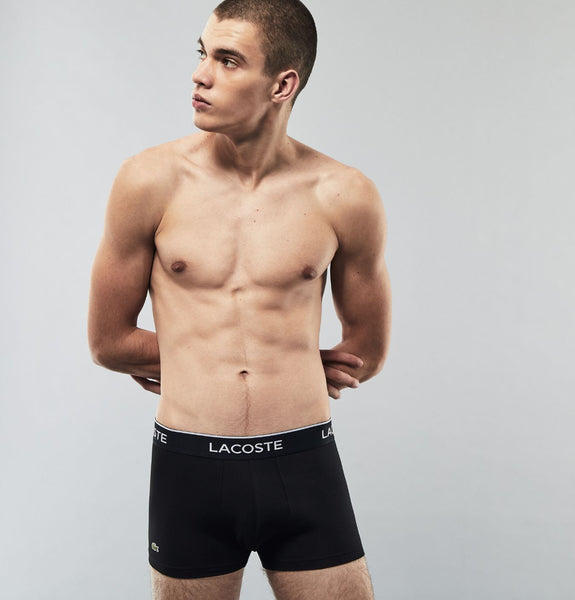 Lacoste - 3 Pack Casual Boxers White Grey Black