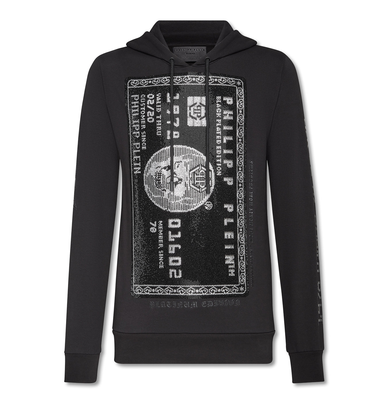 Image of   Hoodie Sweatshirt Platin Credit Card Black