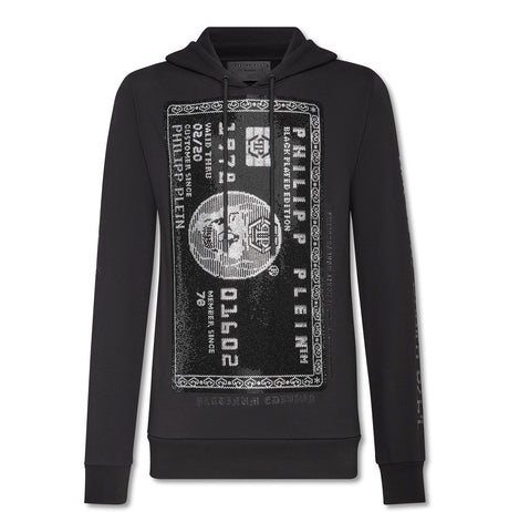 Philipp Plein - Hoodie Sweatshirt Platin Credit Card Black