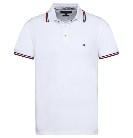 Tommy Hilfiger Tipped Slim Polo White