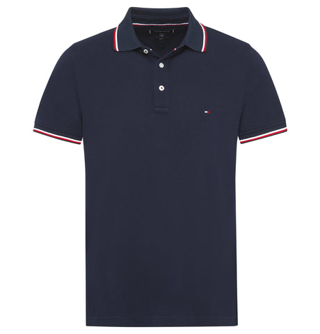 Tommy Hilfiger Tipped Slim Polo Dark Blue