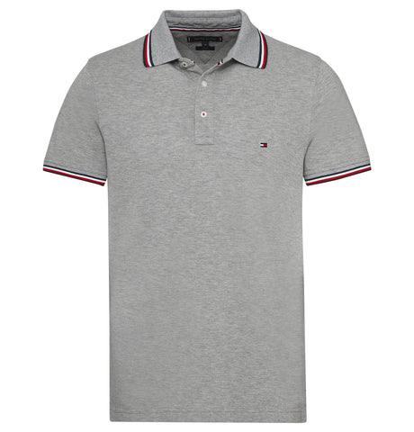 Tommy Hilfiger Tipped Slim Polo Grey