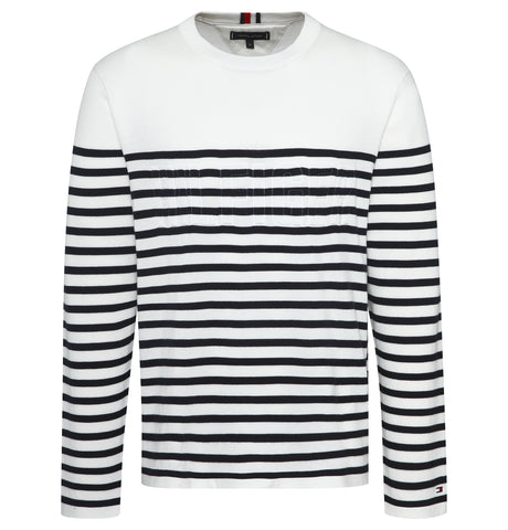 Tommy Hilfiger - Tommy Hilfiger Relaxed Fit Embossed Sweater