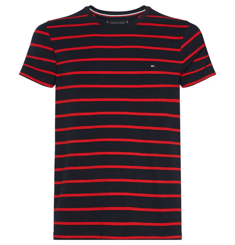 Tommy Hilfiger Slim Tee Stripe Red Blue