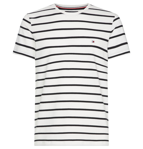 Tommy Hilfiger Slim Tee Stripe White Black