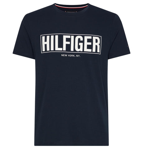 Tommy Hilfiger Box Logo T-Shirt Dark Blue