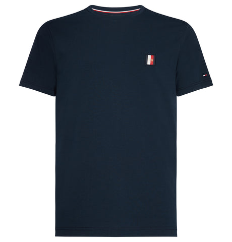 Tommy Hilfiger Woven Label Tee Dark Blue
